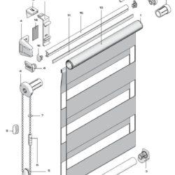 рулонные шторы системы Twin